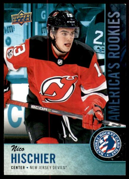 Nico Hischier - New Jersey Devils NHL Fan-Plakette