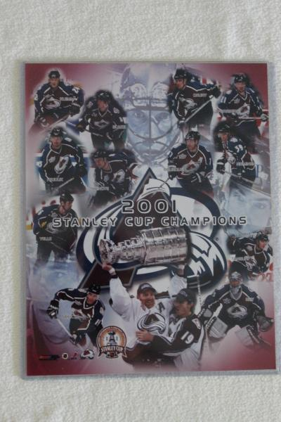 Colorado Avalanche Stanley Cup 2001 Sport Plakette NHL