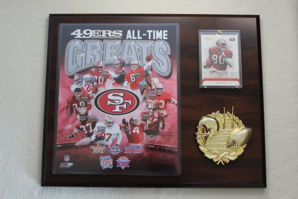 San Francisco 49ers Greats Sport Plakette NFL