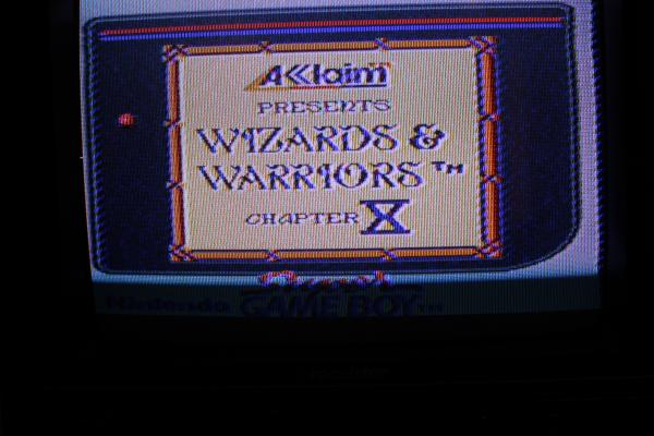 Wizards & Warriors X Fortress of Fear Gameboy Classic